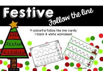 Festive Follow the Line Fine Motor Pencil Control and Hand