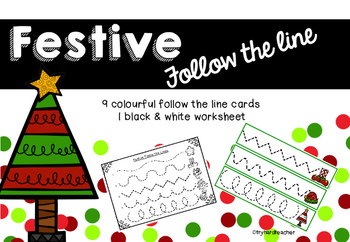 Festive Follow the Line Fine Motor Pencil Control and Handwriting skills