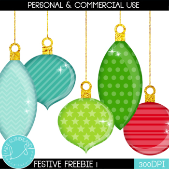 Festive Freebie #1 - Baubles!