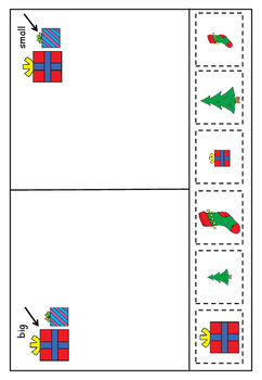 Festive Freebie Maths Cut and Paste Big and Small