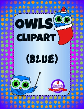 Owls Clipart - Everyday & Holidays (Blue Pack)