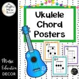 Festive Ukulele Chord Posters