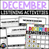 December Classical Music Listening Sheets! Winter and Christmas Activities