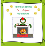 Festive and seasonal parts of speech word searches - spring, Easter etc