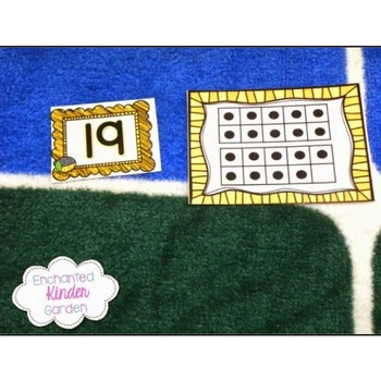 Kindergarten Ten Frames: Task Cards, Counting to 20, Counting to 10