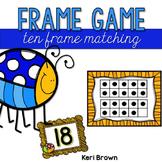 Kindergarten Ten Frames: Task Cards, Counting to 20, Count