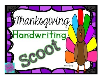 Handwriting Scoot- Thanksgiving Themed- 2 styles