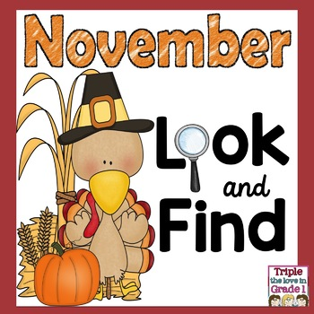 """I Spy"" - November (Thanksgiving Words, Sight Words, -an Words)"