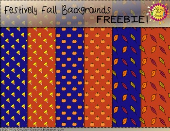 Festively Fall Backgrounds {FREEBIE}