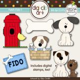 Fetch Fido 1-  Digi Clip Art/Digital Stamps - CU Clip Art