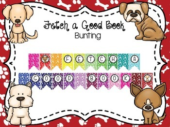 Fetch a Good Book Bunting