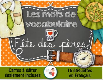 Fête des pères - Mots de vocabulaire /16 affiches (script et cursif)