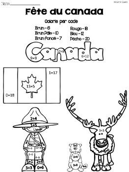Fête du Canada- Colorie par Code