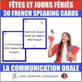 Fêtes, jours fériés, anniversaires - 30 French speaking prompt question cards