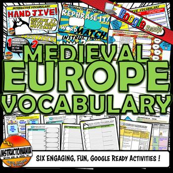 Feudal Europe Vocabulary Set