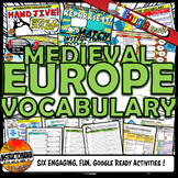 Feudal or Medieval Europe Interactive Vocabulary Activity Set Google Ready