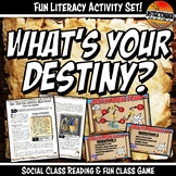 Feudal Europe What's Your Destiny Close Reading & Fun Comp