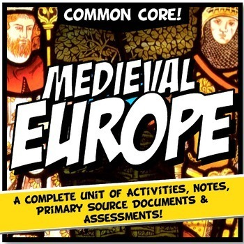 Middle ages teaching resources lesson plans teachers pay teachers feudal or medieval europe unit plan bundle world history activity lessons sciox Choice Image