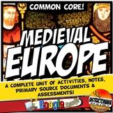 Feudal or Medieval Europe Unit Plan Bundle World History A