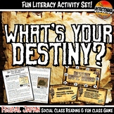 Feudal Japan What's Your Destiny Close Reading & Fun Comprehension Game