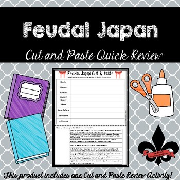 Feudal Japan Cut and Paste Review--NO PREP