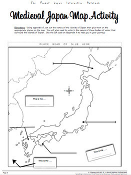 Japan Interactive Notebook HandsOn Learning For Medieval Japan - Japan map activity