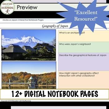 Feudal Japan Digital Graphic Organizers for Google Drive