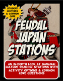 Feudal Japan Stations with Key Questions Graphic Organizer