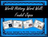 Feudal Japan Word Wall
