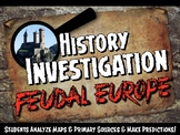 Feudal or Medieval Europe Investigation History Lesson Stations or Presentation