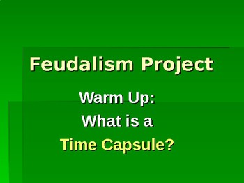 Feudalism/Manorialism Project