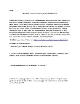 Feudalism Webquest