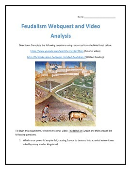 Feudalism- Webquest and Video Analysis with Key