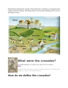 Feudalism and the Crusades Packet