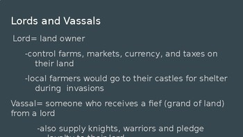 Feudalism in Medieval Europe Power Point (Middle School)