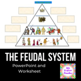 Feudalism in the Middle Ages PowerPoint and graphic organizer