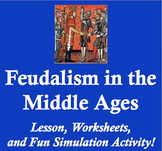 Feudalism in the Middle Ages - Worksheets, Readings, and Fun Simulation!