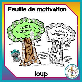 Feuille de motivation - loup / FRENCH wolf reward sheet