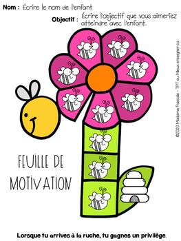 Feuille de motivation - printemps