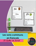 Les sons - Feuilles de travail (Worksheets for Common Sounds in French)