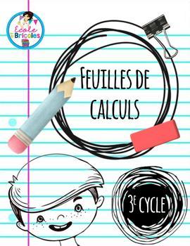 Feuilles de calculs 3e cycle