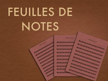 Feuilles de notes