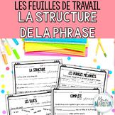 Feuilles de travail - la structure de la phrase