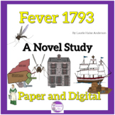 Fever 1793 by Laurie Halse Anderson   A Novel Study