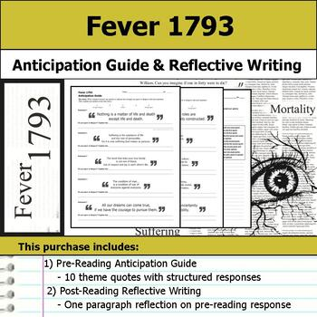Fever 1793 - Anticipation Guide & Reflection Writing