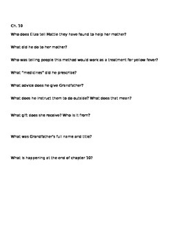 Fever 1793 Chapters 9-10 Comprehension Questions