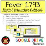 Fever 1793 Digital Interactive Notebook Distance Learning