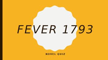 Fever 1793 End of Novel Assessment
