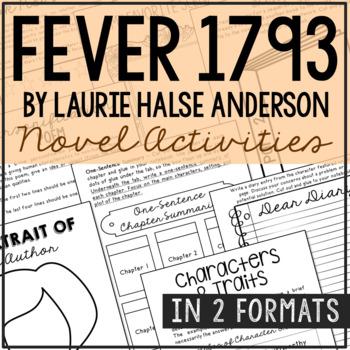 Fever 1793 Interactive Notebook Novel Unit Study Activities, Book Report Project
