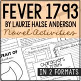 FEVER 1793 Novel Study Unit Activities   Creative Book Rep